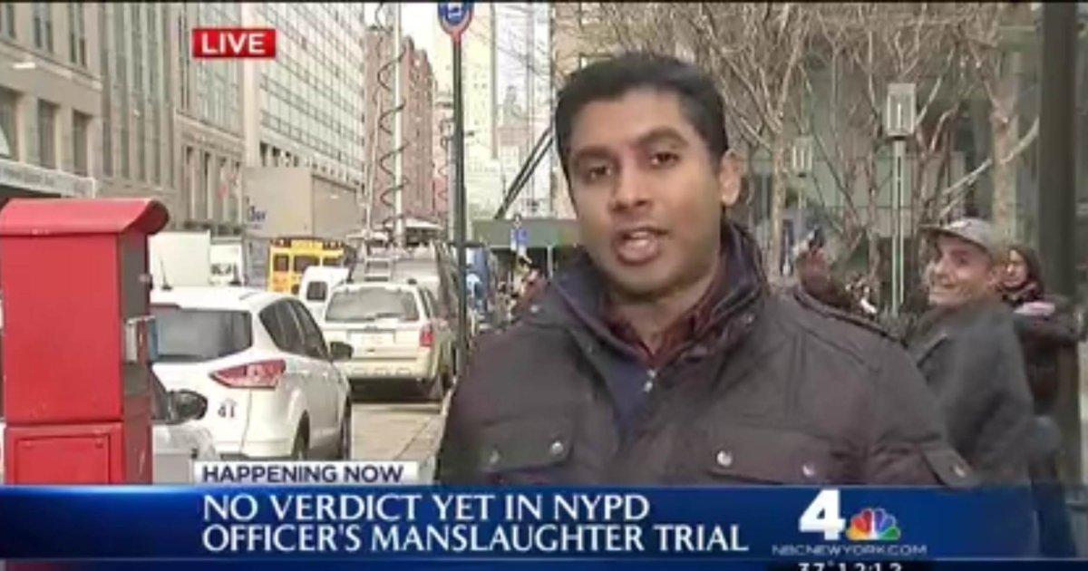 EXCLUSIVE: Man arrested for flashing 'weapon' on live TV in Brooklyn @NBCNewYork