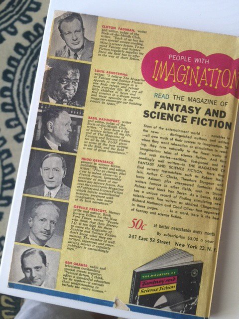 Back cover, F&SF February 1966
