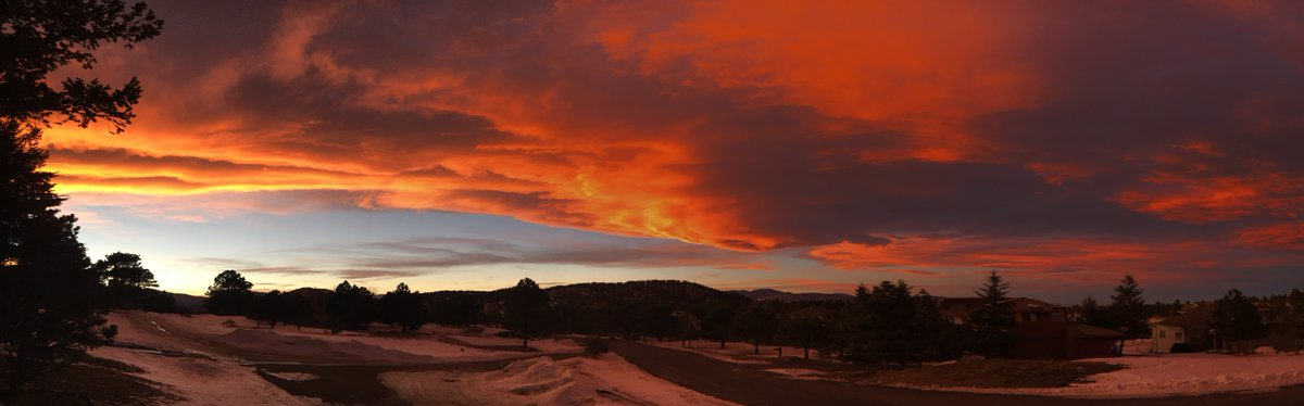 Sunset from Genesee, Colorado (Feb. 10, 2016) - pic from Clare Keil 9Wx