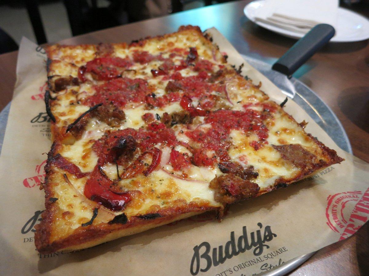 American pizza classics: @BuddysPizza in Detroit