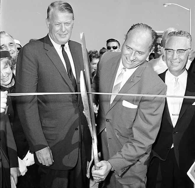 51 days until we open the new 520 bridge. Officials cut the ribbon for the original bridge on August 28, 1963 TBT