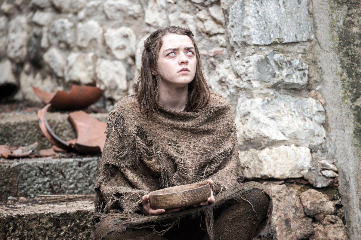 .@Maisie_Williams as Arya Stark in #GoTSeason6. #GameofThrones