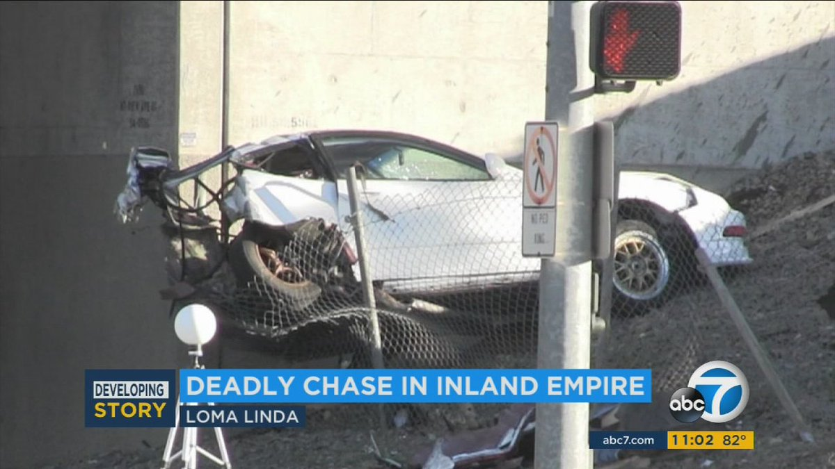 Suspected car thief dies in Loma Linda crash after pursuit by victim
