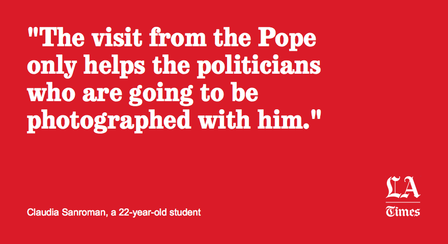 On the eve of Pope Francis' arrival in Mexico, not everybody is so welcoming
