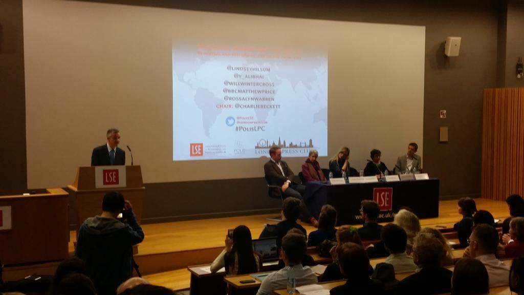 Polis LSE event: Migrants, terror and the media. Reporting and responsibilty on the frontline. 11 Feb 2016