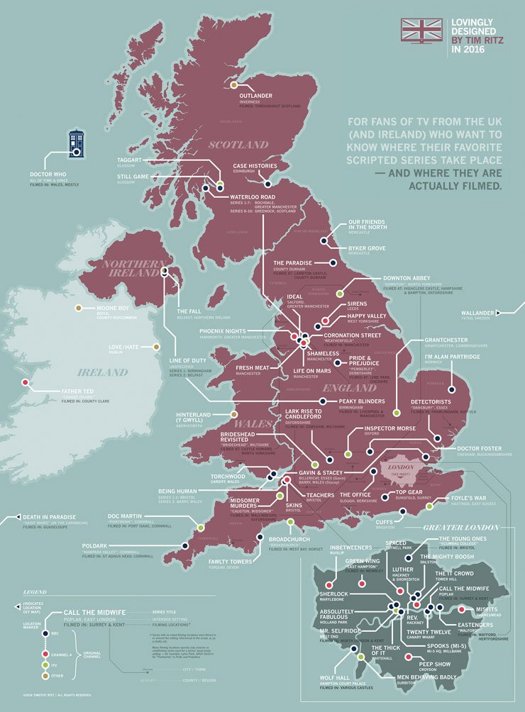 LOVE this map of where lots of British TV shows take place. https://t.co/oFGkzdGgqn