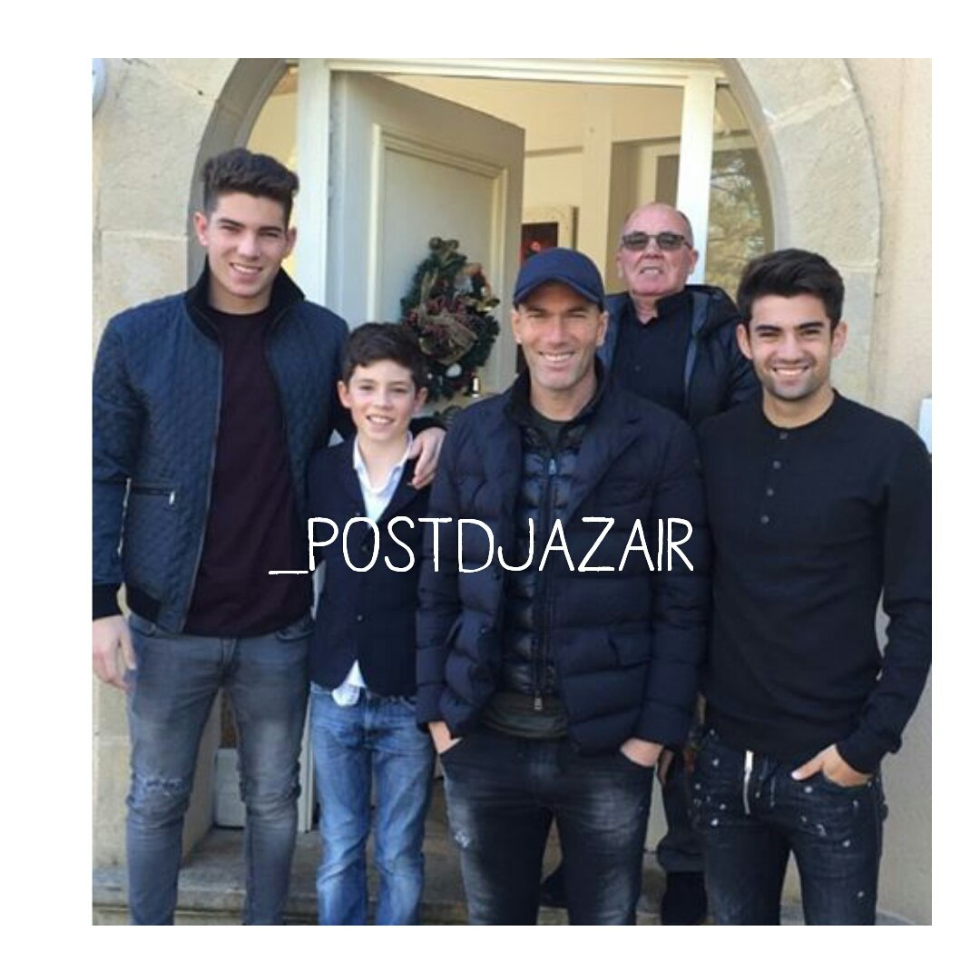 Algerian post on twitter zidane family 👪😍⚽ https t co wkmxnux9ai