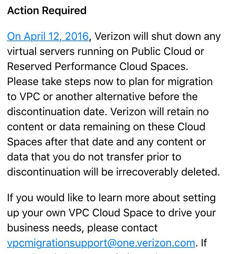 Verizon is on cloud none: Comms giant will axe two public