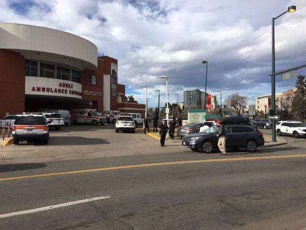 Denver Health on lockdown after shooting-stabbing