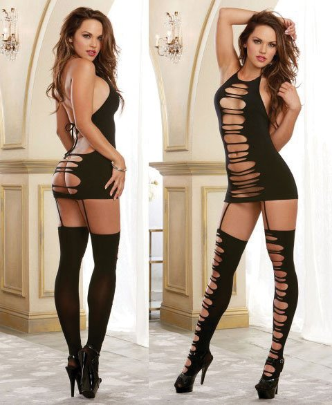 Stockings Back Attractive 92