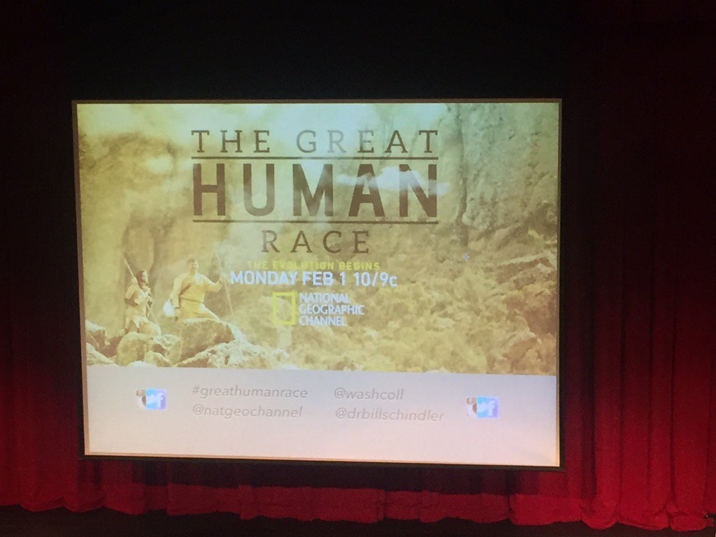 Cheers! at the premiere of #greathumanrace with  my colleague @drbillschindler @washcoll https://t.co/Rs9aphugai