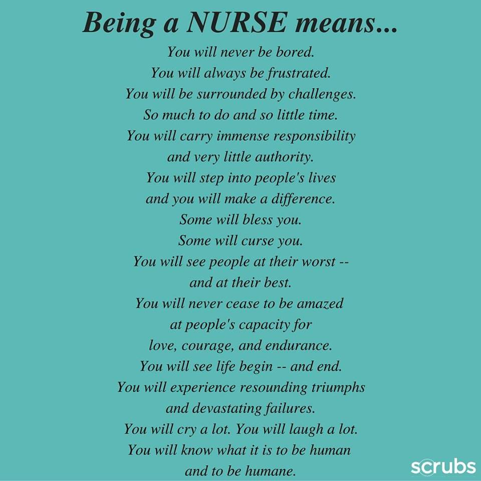 Why be a nurse essay