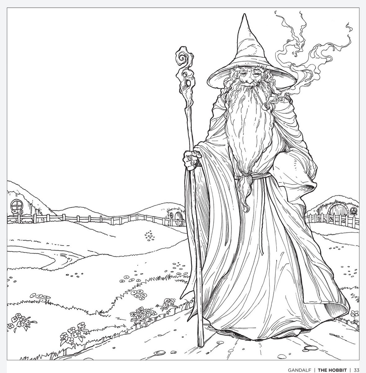 hobbit character coloring pages - photo#10