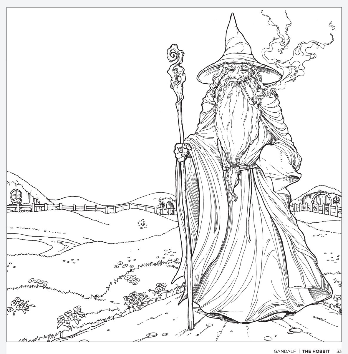 This is a graphic of Terrible Hobbit Coloring Pages