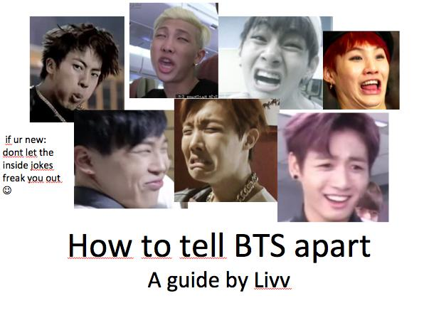 """rabbit boy 🐣🐰🐾 on Twitter: """"""""HOW TO TELL BTS APART"""" GUIDE ..."""