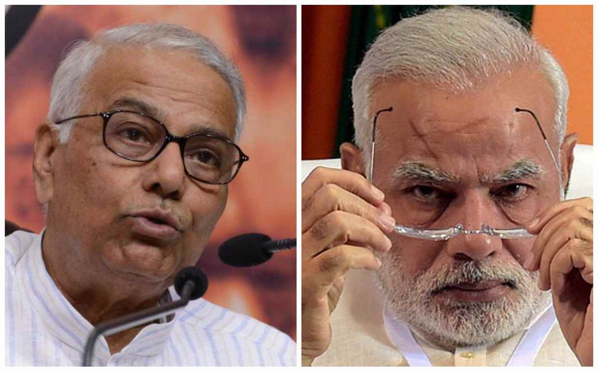 #India will consign him to dust, wait for next election: Yashwant Sinha on @narendramodi https://t.co/WkbJpHPYS6