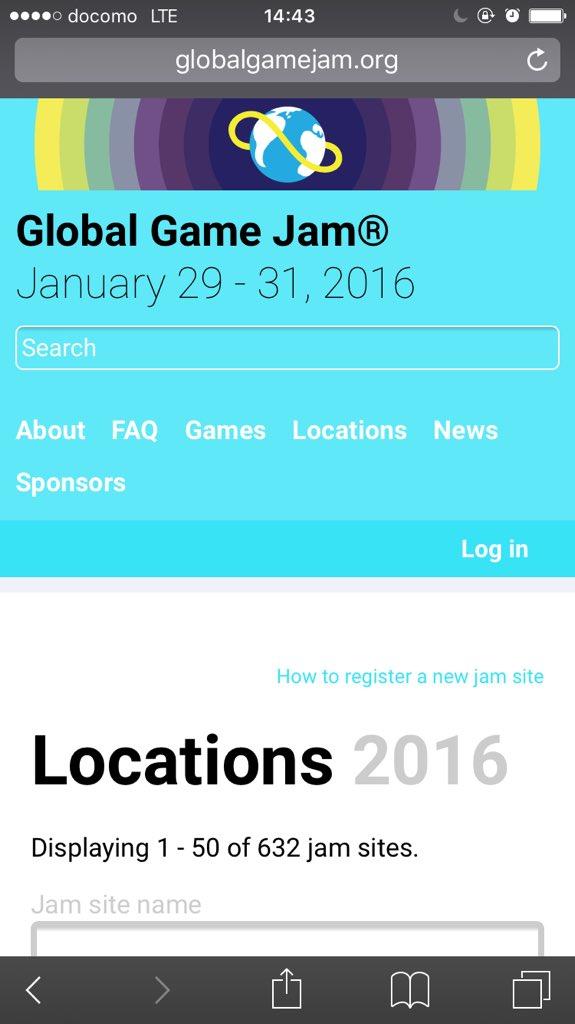 GGJ(=グローバルゲームジャム)がどのくらいグローバルなイベントなのかと言うと、全世界632会場同時開催で、中でも最大規模となるエジプト会場には2700名ものクリエイターが集結し開会式で大臣が挨拶をするレベル。 #ggj16jp https://t.co/qhWNa4SVTU
