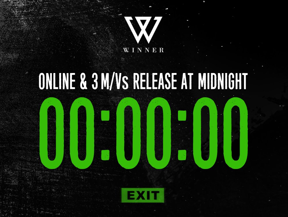 [WINNER - 'EXIT : E' COUNTER] originally posted by https://t.co/XZQ3IOI9MY #WINNER #EXIT #E #20160201 #0AM