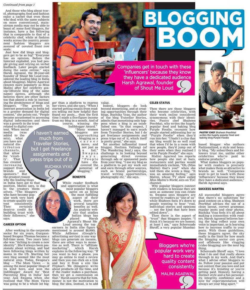 Blogging boom on The Asian Age #Blogging #Influencer #Contentmarketing #Onlinemarketing https://t.co/eGPUvYOUFt