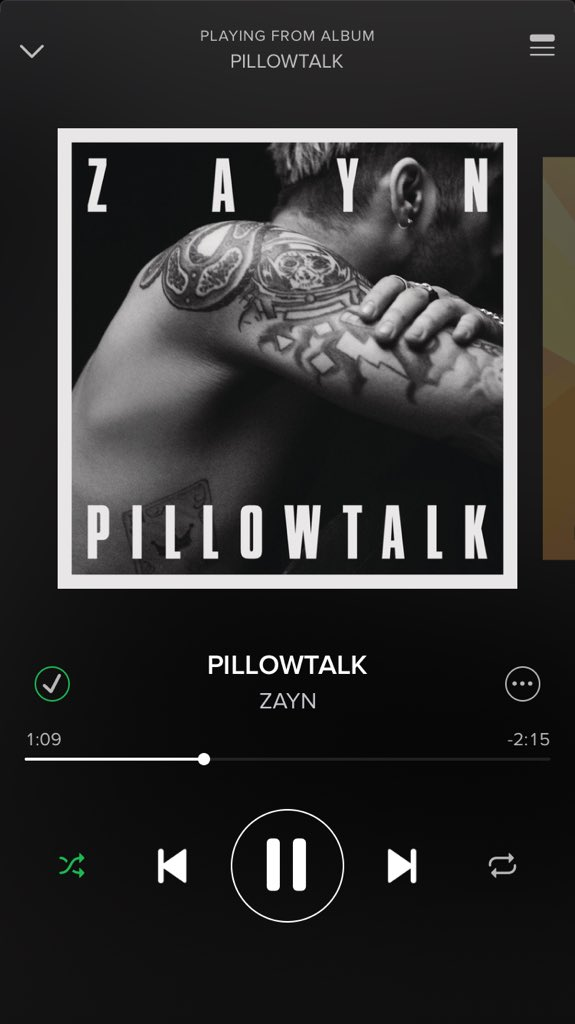 Big tune by @zaynmalik what a beat and Tune #Pillowtalk #recklessbehaviour #onrepeat