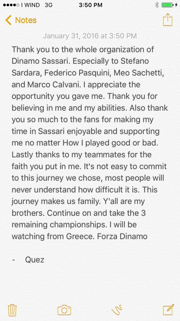 Thank you @dinamo_sassari https://t.co/vaZJwF1Yaa