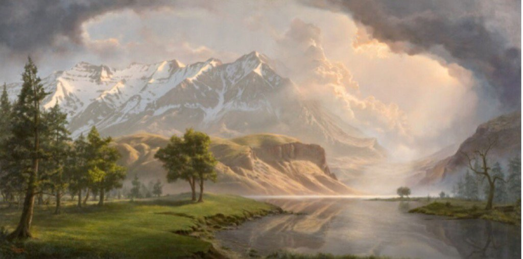 Mt. Timpanogos Millennium, by Adam Abram (b. 1976). From Tweet by Don Ruggles (@DHRuggles) and @TeresaVeiga1