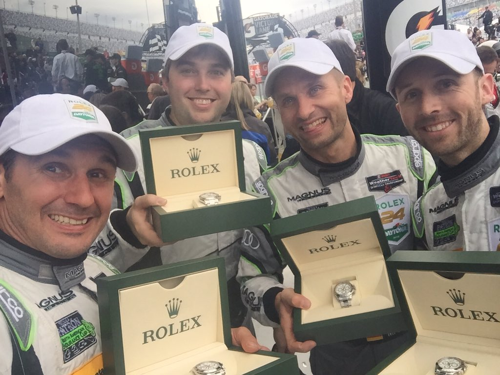 YES YES YES YES YES!!! WE WON DAYTONA!! AGAIN! @IMSA @Rolex24Hours @MagnusRacing https://t.co/v0uL5Z08bT