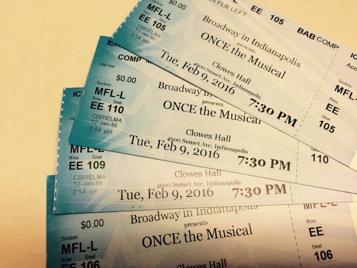 You know you want 'em. Retweet to enter to win four ticket to see Once on @BroadwayIndy on 2/9! https://t.co/JyMgHeuuHj