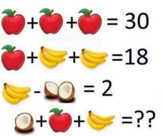 The Internet Is Baffled by This Simple Math Problem About Fruit