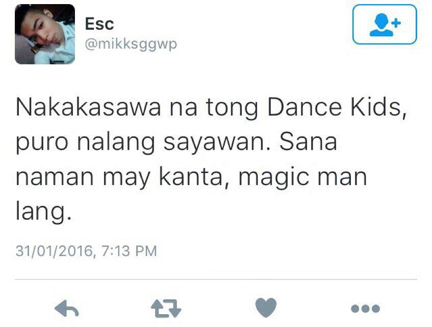 Pasensya na po. Will bring this up to the management. 😶 #DANCEKids @danceabscbn https://t.co/nC2sl9WLLi