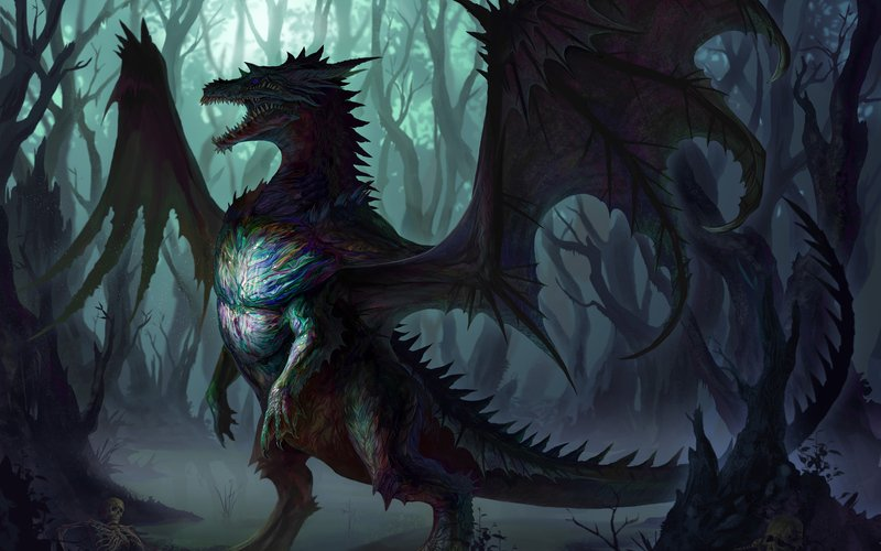 Wallpapers Ten On Twitter Niohoggr Dragon In The Dark Tco