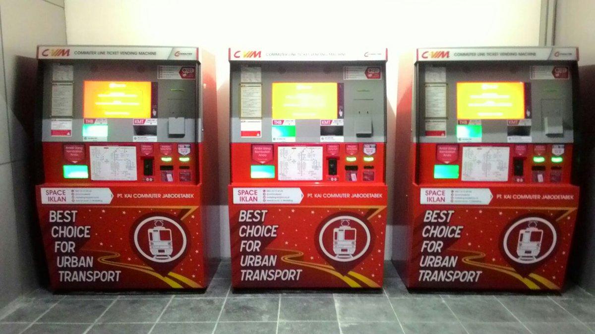 Hasil gambar untuk commuter line ticket Vending Machine
