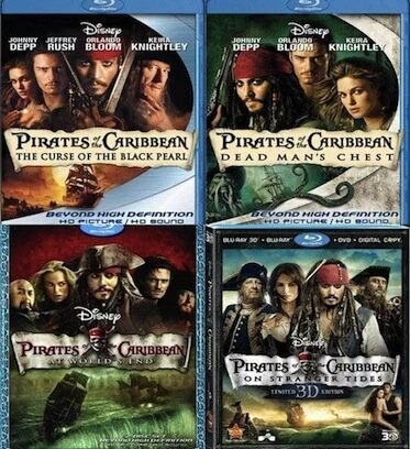 Win The Pirates Of The Caribbean Movie Dvd Box Set Follow