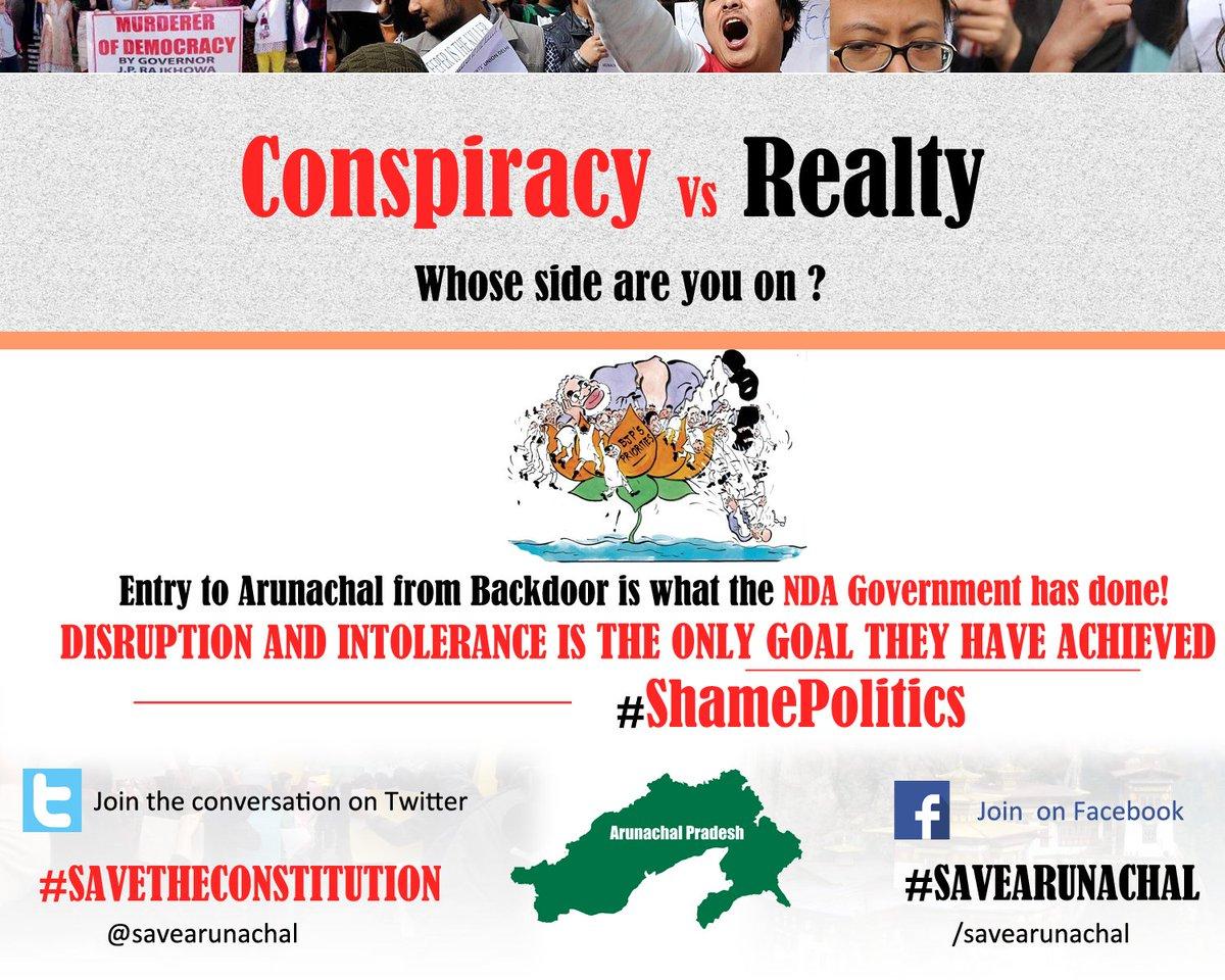 Disruption in Democracy is the only achievement of NDA Govt #ArunachalPradesh @INCIndia #SaveArunachal @indiatvnews