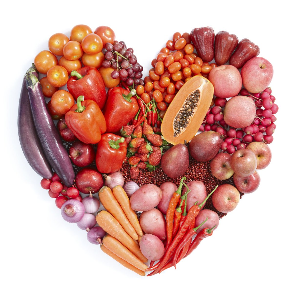 Get your hearts pumping with the good stuff! For #AmericanHeartMonth, fill your plate with FRUITS and VEGGIES! https://t.co/Qc3DkZQA8i