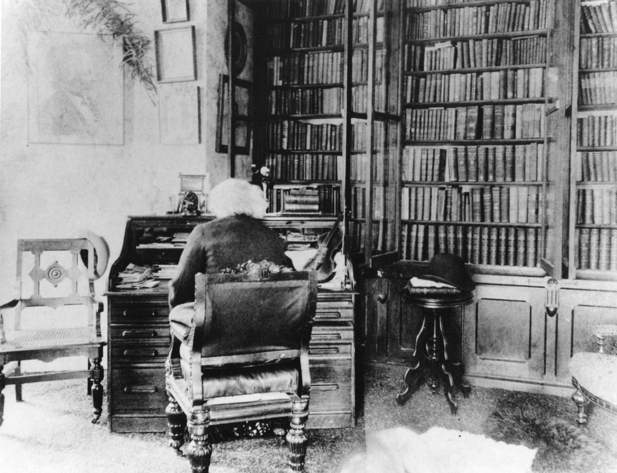 And here's Frederick Douglass in his 1,300-book personal library. Catalog here: https://t.co/JTS9WWZ73U https://t.co/pjVRvBHlZ2