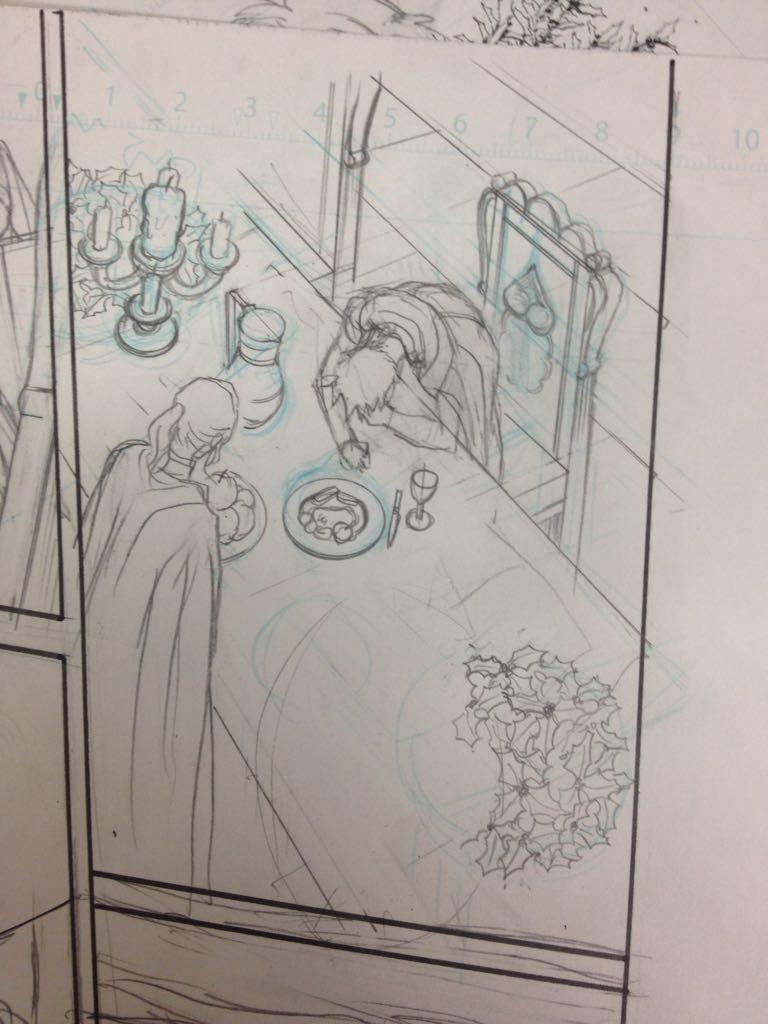 父上の棺にむかって泣き崩れるシーンをアシさんに渡したらディナーになって返ってきた図 https://t.co/fWTyHlaWlh