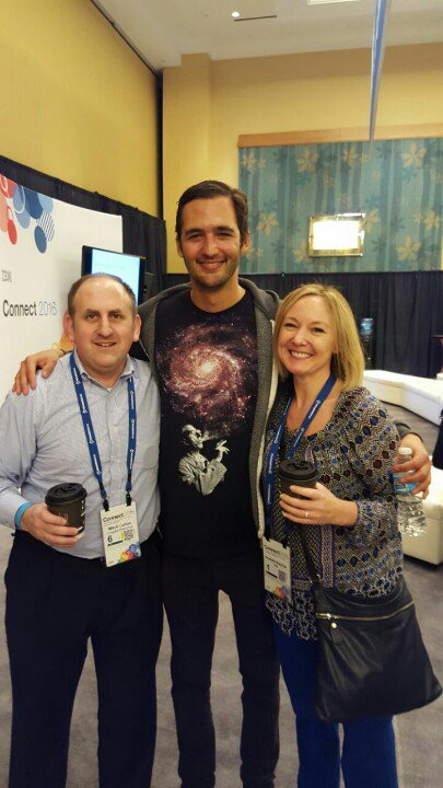 With champion of Champions @amandabauman and @jasonsilva #IBMconnect https://t.co/KPqs9P1Vkv