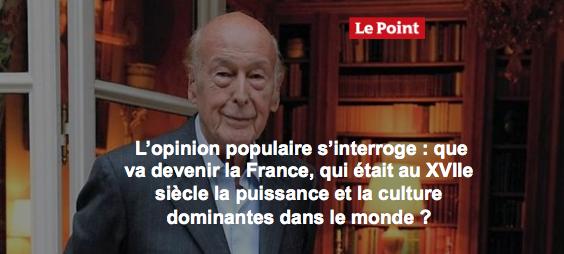 Cette semaine dans #LePoint : ' Ingouvernable #France ' par Valéry Giscard d'Estaing #VGE https://t.co/il7SgaMz7s
