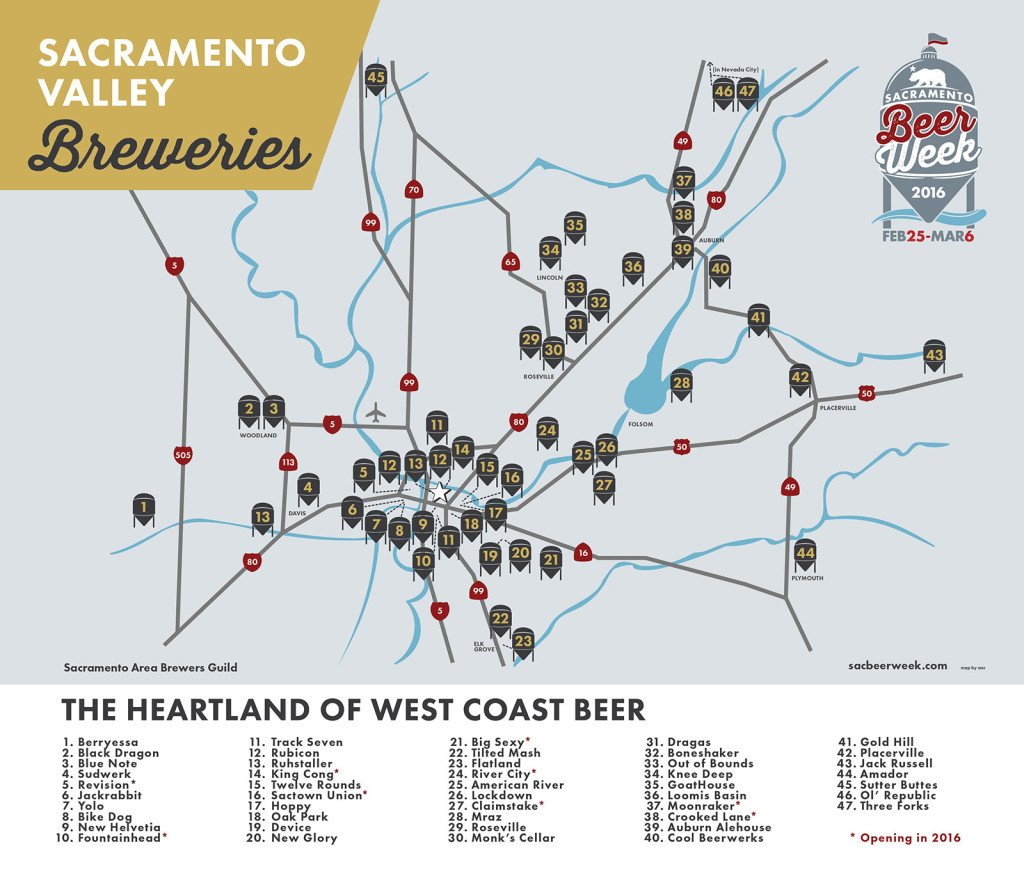 Sacramento Beer Week on Twitter Check out the map of all the