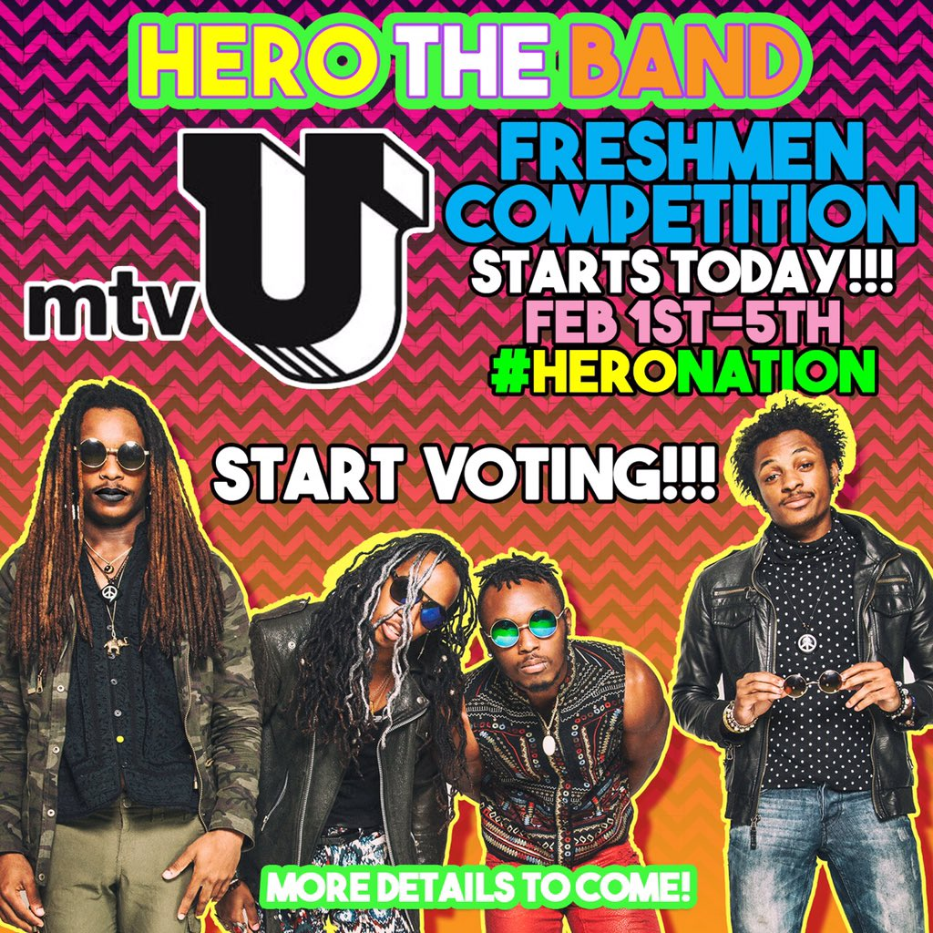 Just has been chosen to be on mtvu freshmen so HeroNation vote all week til Friday https://t.co/aSiEUazgvc