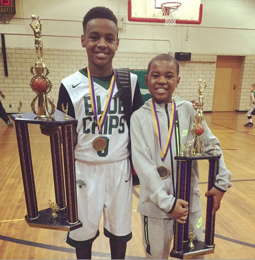 df56c05498f video lebron james sons lebron jr and bryce maximus impress at ohio showcase