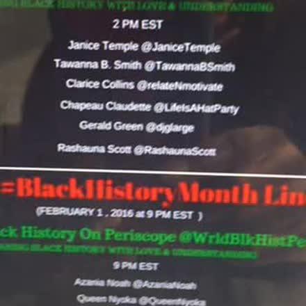 Thumbnail for #BlackHistoryMonth Feb. 1 2016