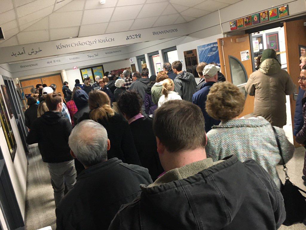 Lines out the door #IowaCaucus https://t.co/OvnKvL1B13
