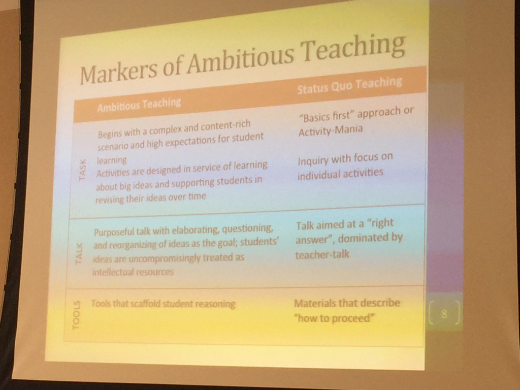 Fantastic NGSS PD at Highline Public Schools: Markers of Ambitious Teaching via  @bethanysjoberg #nsfstem https://t.co/AVLvYnjQ9f