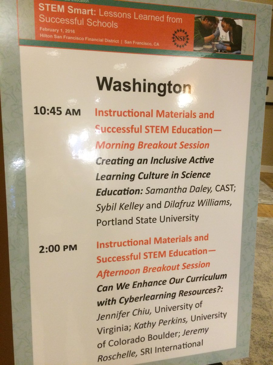 Sharing our work at the #nsfstem conference today! Designing inclusive science learning. Thanks @CADREK12, @NSF_EHR! https://t.co/ITpqitWuKj