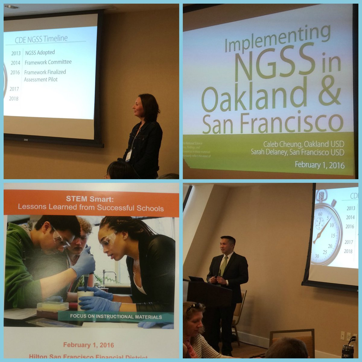 #SFUSD & @OUSDNews Science Leaders Sarah & Caleb share insights at #NSFSTEM meeting. #NGSS https://t.co/eaOObMiQ2b
