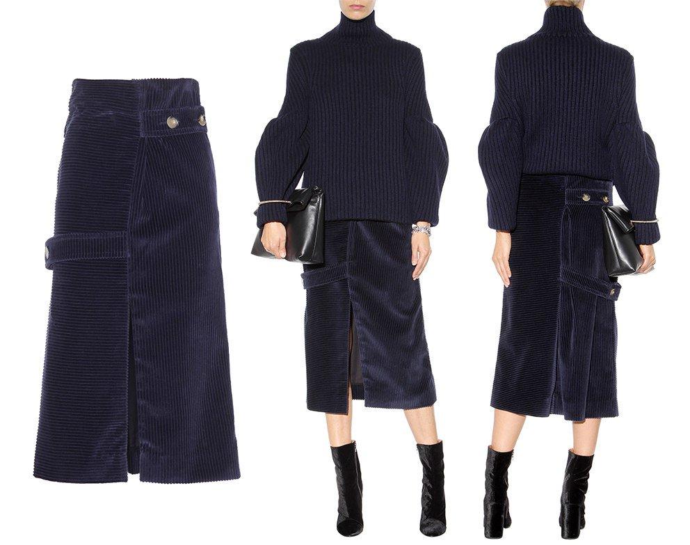 a759fcbd46 #VictoriaBeckham #VBAW15 #fashion Victoria Beckham Corduroy midi skirt  €1125 http:/