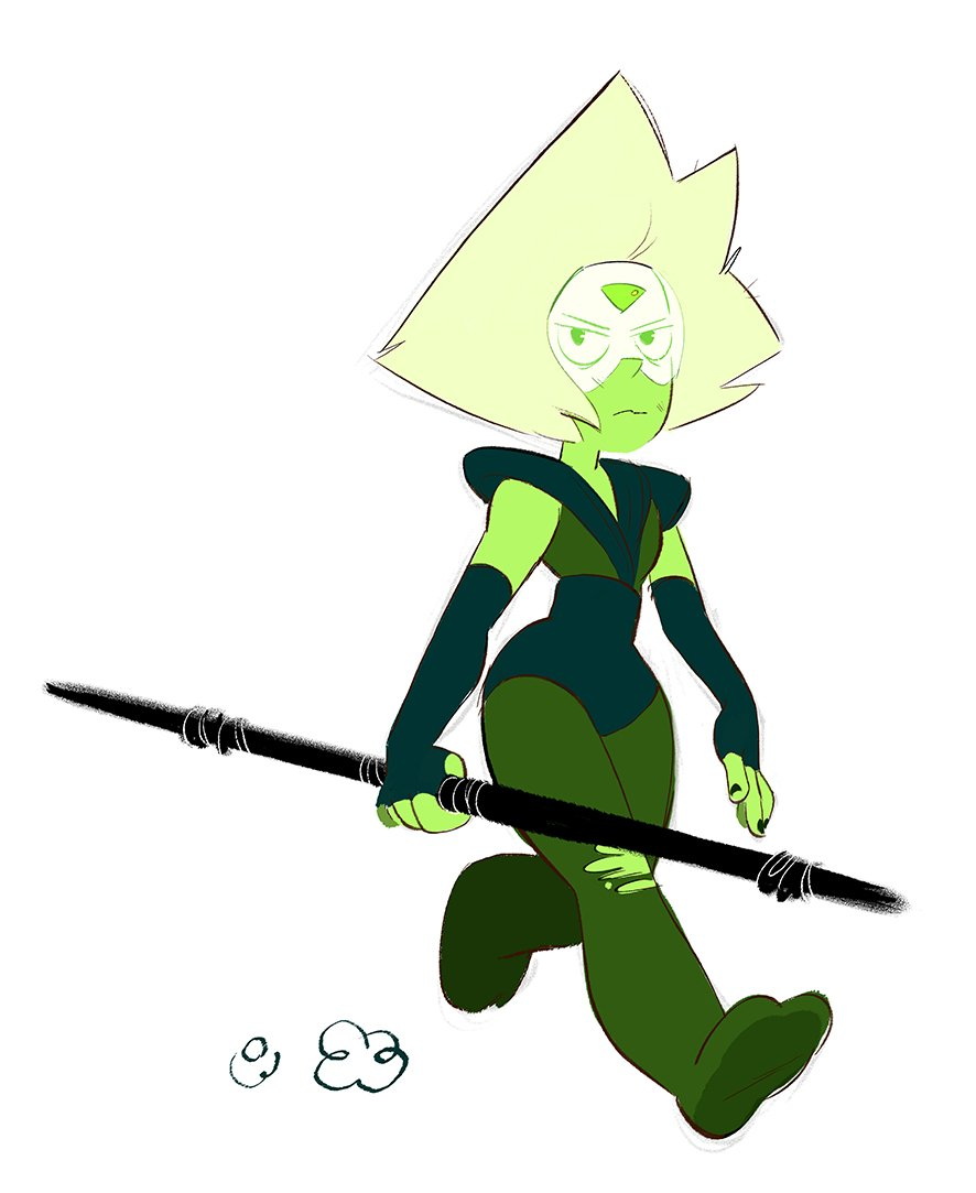 """...and her terrifying renegade Peridot."""