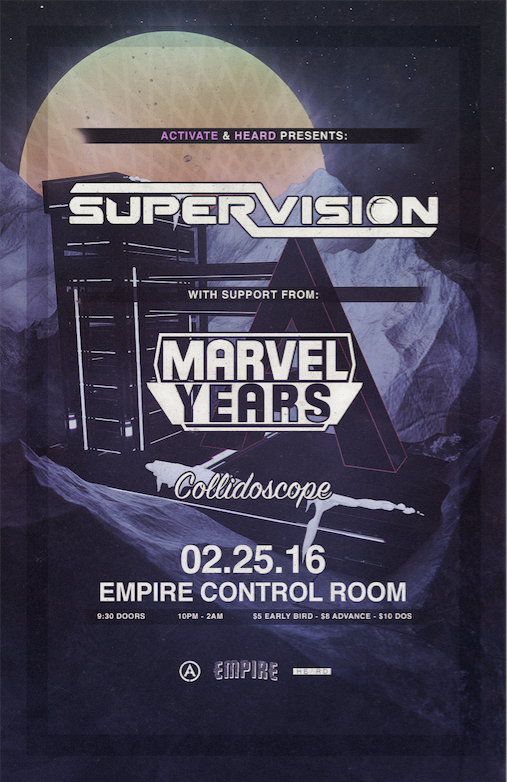 JUST ANNCD #RoadtoEuphoria ft @ThatSuperVision + @MarvelYears + Collidoscope on 2/25! EB TIX  http:// bit.ly/ActivateSuperV ision  … <br>http://pic.twitter.com/DCA6wT8rRI